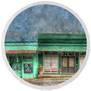 Stewards General Store And Post Office Round Beach Towel