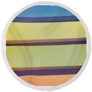 Sticky Stripes Round Beach Towel