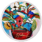 Still Dreaming Of Tuscany Round Beach Towel