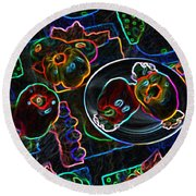 Still Life D Round Beach Towel