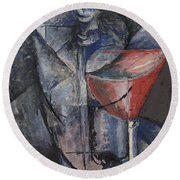 Still Life  Glass And Siphon Round Beach Towel
