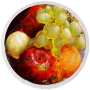 Still Life Tiles Round Beach Towel