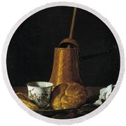 Still Life With A Chocolate Service Round Beach Towel