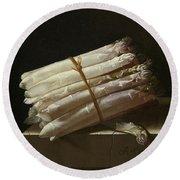 Still Life With Asparagus Round Beach Towel