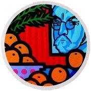 Still Life With Henri Matisse Round Beach Towel
