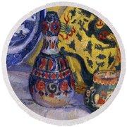 Still Life With Oriental Figures, 1913  Round Beach Towel