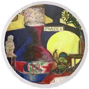 Stillife Round Beach Towel
