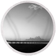 Stillness Befor Dawn Round Beach Towel