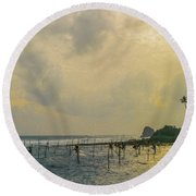 Stilt Fisherman Round Beach Towel