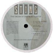 Sting Dream Of The Blue Turtles Lp Label Round Beach Towel