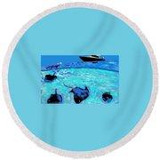 Stingray Bay Round Beach Towel