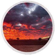 Stirling Ranges Sunrise Round Beach Towel