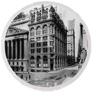 Stock Exchange, C1908 Round Beach Towel