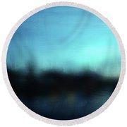 Stockholm Blue- Art By Linda Woods Round Beach Towel