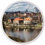 Stockholm From Skansen Round Beach Towel
