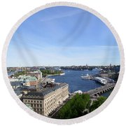 Stockholm In My Heart Round Beach Towel