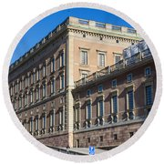 Stockholm Royal Palace  Round Beach Towel