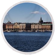 Stockholm Waterscape Round Beach Towel