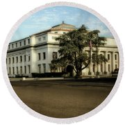 Stockton Civic Auditorium 2 Round Beach Towel