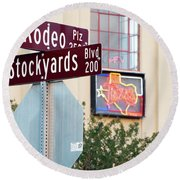 Stockyards Fort Worth 6815 Round Beach Towel