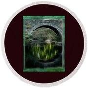 Stone Arch Bridge - Ny Round Beach Towel