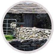 Stone Barn Doolin Ireland Round Beach Towel