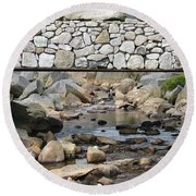Stone Bridge Round Beach Towel