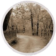 Stone Bridge On Cave Hill Road Round Beach Towel
