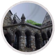Stone Church Round Beach Towel