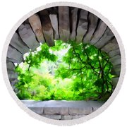 Stone Lookout Round Beach Towel