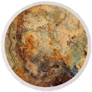 Stone Maps Round Beach Towel