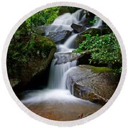 Stone Mountain Falls Round Beach Towel