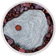 Stone Simplicity Round Beach Towel