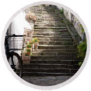 Stone Stairs Round Beach Towel