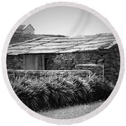 Stone Structure Doolin Ireland Round Beach Towel