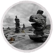 Stone Tower Round Beach Towel