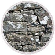 Stone Wall Detail Doolin Ireland Round Beach Towel