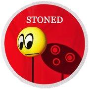 Stoned Round Beach Towel