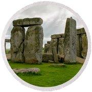 Stonehenge England Round Beach Towel