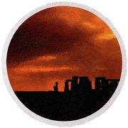 Stonehenge Impasto 2 Round Beach Towel