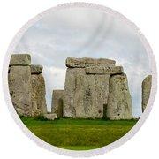Stonehenge Monument Round Beach Towel