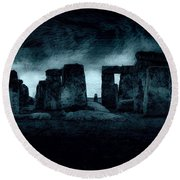 Stonehenge Mood Round Beach Towel