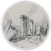 Stonehenge Wiltshire Round Beach Towel