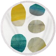 Stones- Abstract Art Round Beach Towel