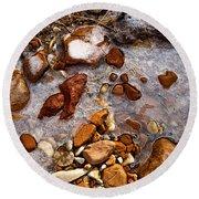 Stones And Ice Round Beach Towel