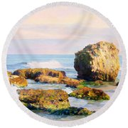 Stones In The Sea Round Beach Towel
