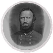 Stonewall Jackson Round Beach Towel by War Is Hell Store