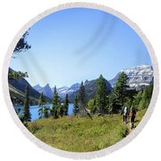 Stoney Indian Pass Trail Around Cosley Lake - Glacier National Park Round Beach Towel