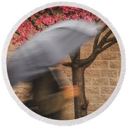 Stop And Smell The Roses Round Beach Towel