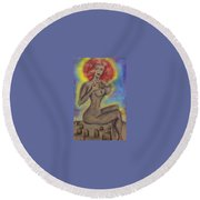 Stop Killing Our Babies  Round Beach Towel